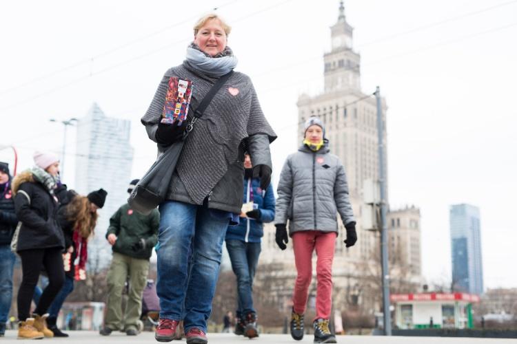 Wolontariusze w czasie 26. Finału WOŚP, fot.Basia Lutzner