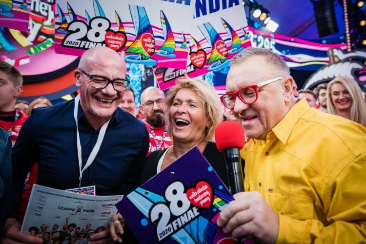 Piotr Zelt, Ewa Kasprzyk i Jurek Owsiak w studio WOŚP Fot. Marcin Michoń