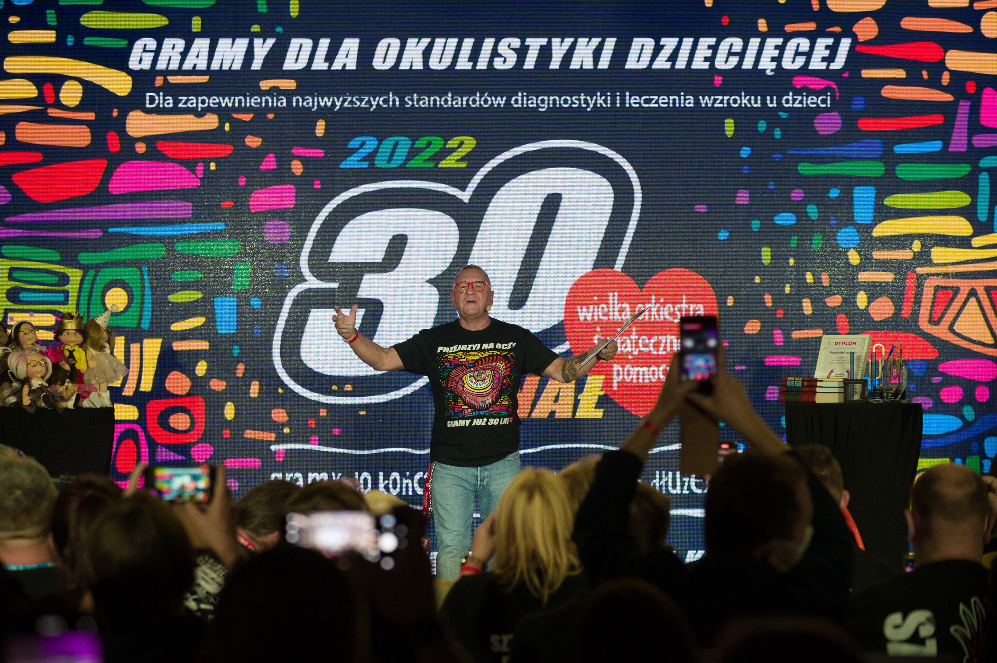 Jurek Owsiak ogłaszający temat 30. Finału podczas Zlotu Sztabów, fot. Grzegorz Adamek