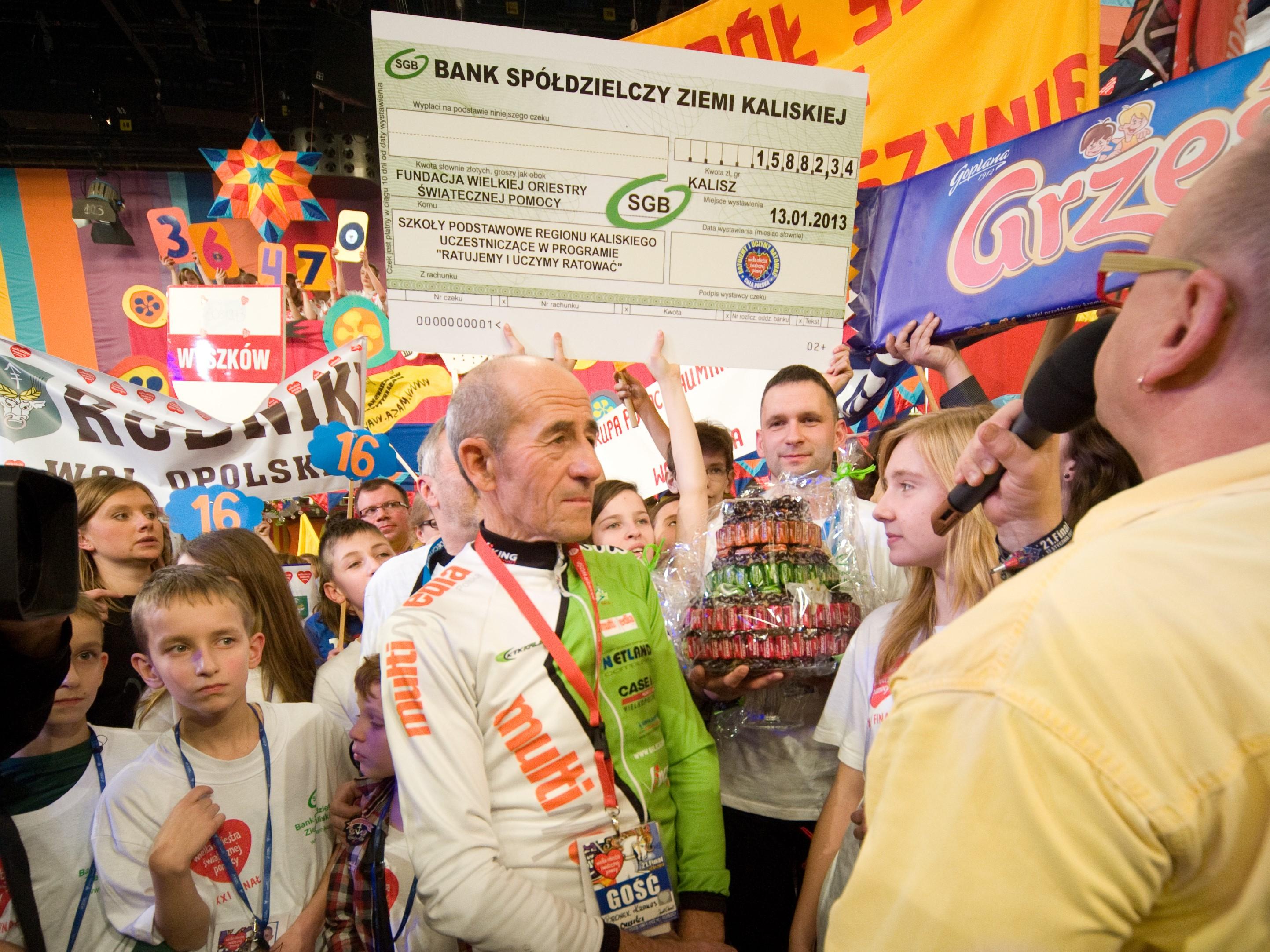 Bronisław Krakus podczas 21. Finału WOŚP, fot. Arek Dyrgas
