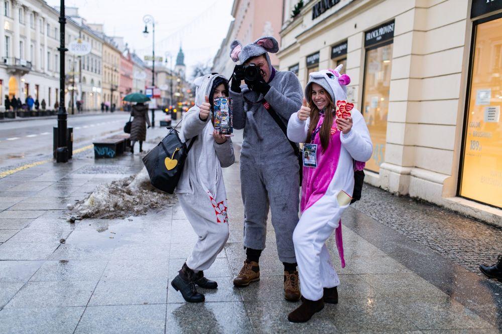 Warszawscy wolontariusze 27. Finału WOŚP, fot. Cezary Lewandowski