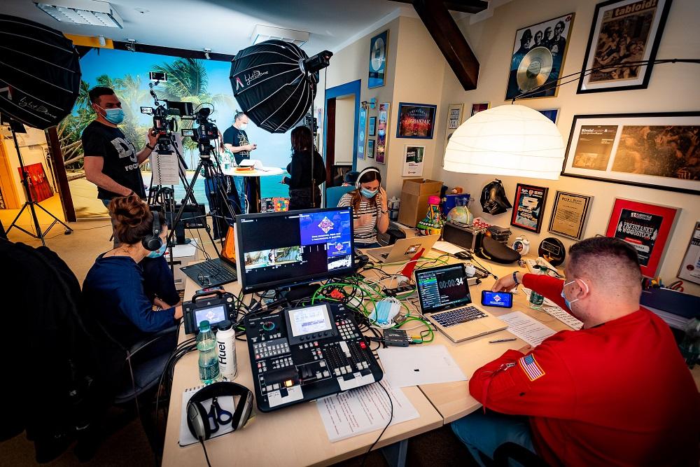 Zdjęcie z nagrań 1. sezonu Domowej Orkiestry, fot. Łukasz Widziszowski