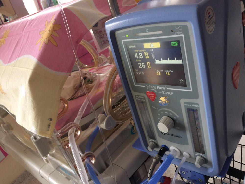Jedno z urządzeń pracujących na Oddziale Klinicznym Neonatologii Szpitala Uniwersyteckiego