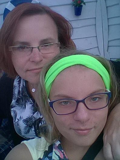 Karolina z mamą Anetą
