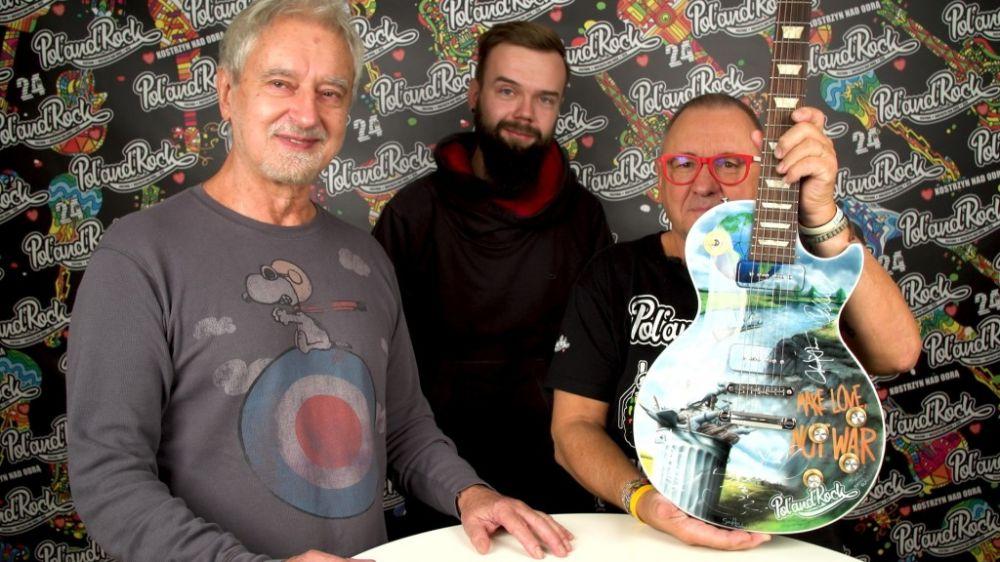 Gitara PolandRockowa z obrazami Rafała Olbińskiego