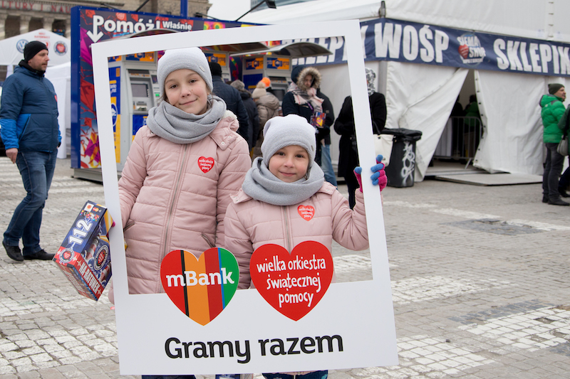 mBank na Placu Defilad podczas 26. Finału WOŚP - fot. Edyta Kurycka