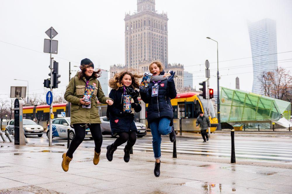 Wolontariusze podczas Finału WOŚP w Warszawie fot. Michał Złotowski