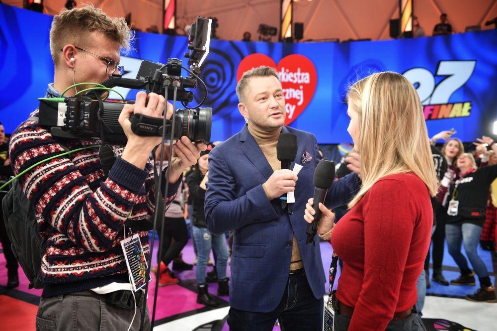 Jarosław Kużniar w Finałowym Studio WOŚP foto. Paweł Krupa