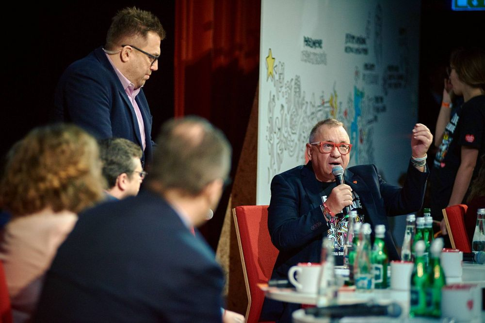 Jurek Owsiak w czasie Debaty, fot. Szymon Aksienionek
