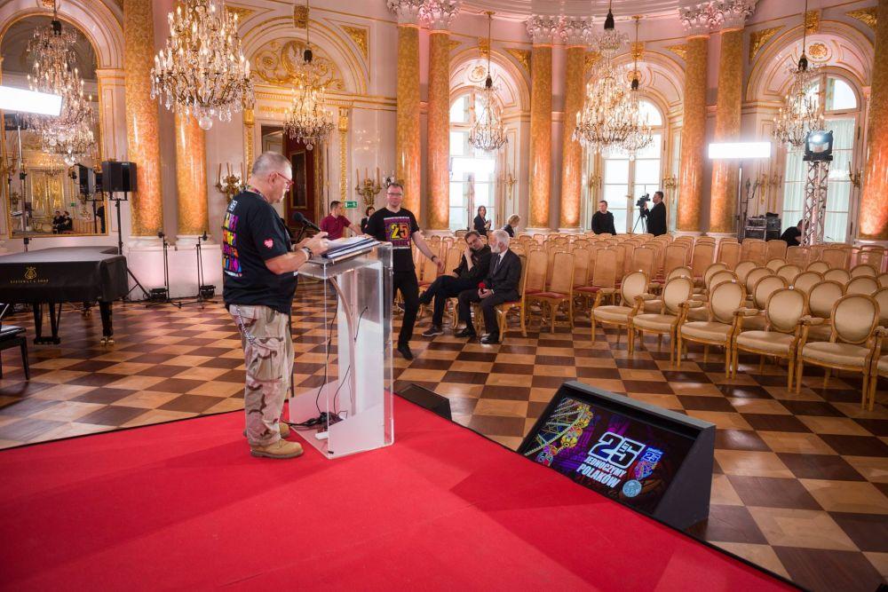 Przygotowania do konferencji prasowej na Zamku Królewskim, fot. Łukasz Widziszowski