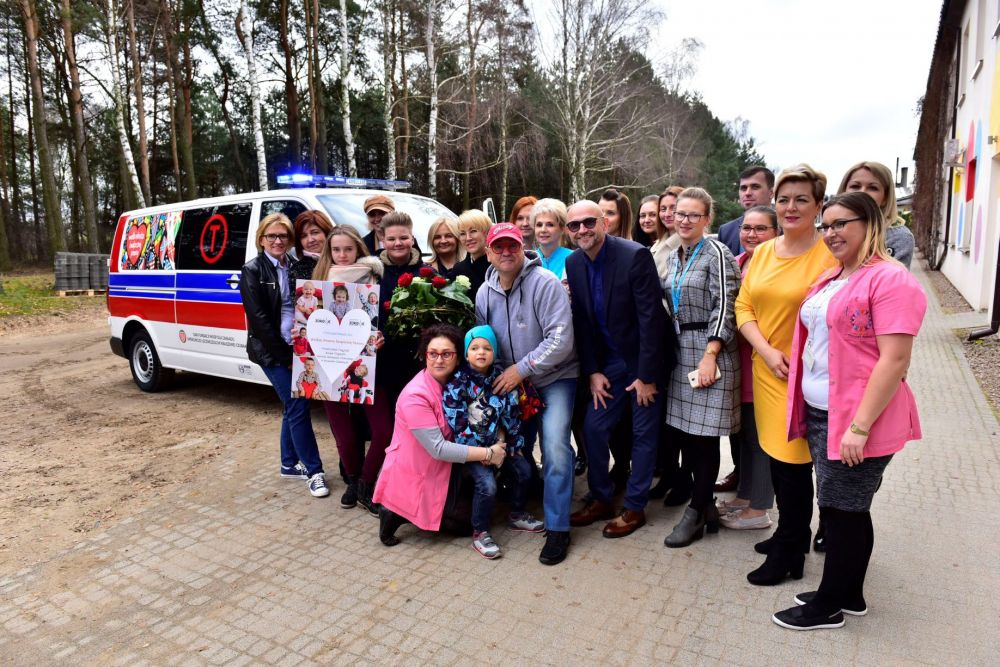 The charity donated a modern ambulance