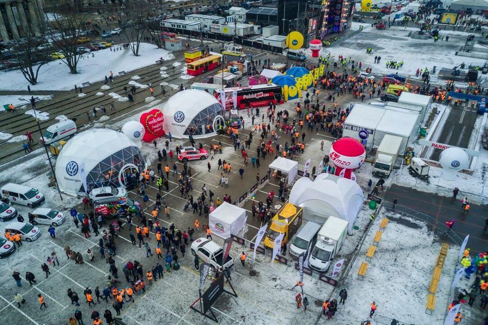 Volkswagen jest sponsorem biegu. Zdjęcie wykonane dronem DJI Mavic użyczonym przez DJI Academy - www.flyandfilm.pl fot: Łukasz Widziszowski