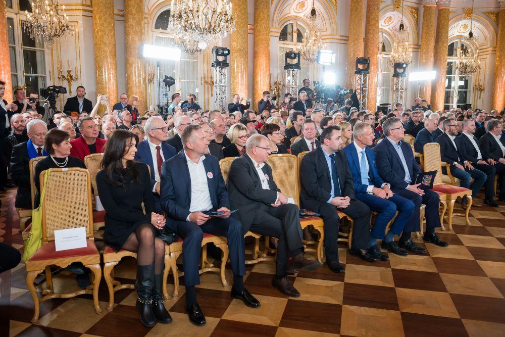 Na konferencji pojawił się m.inprezydent Polski, Bronisław Komorowski, fot. Łukasz Widziszowski