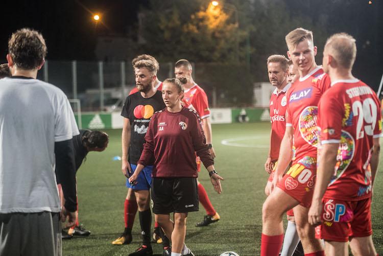 Trening drużyny WOŚP przed Wielkim Meczem - fot. Dominik Malik