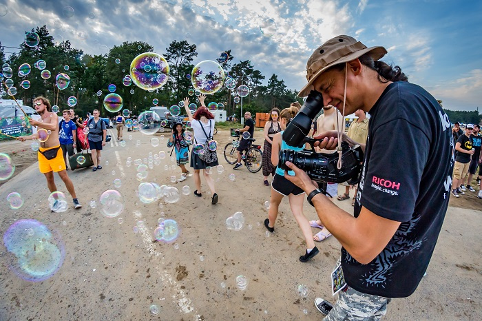 KręciołaTV na 23. Przystanku Woodstock - fot. Michał Kwaśniewski