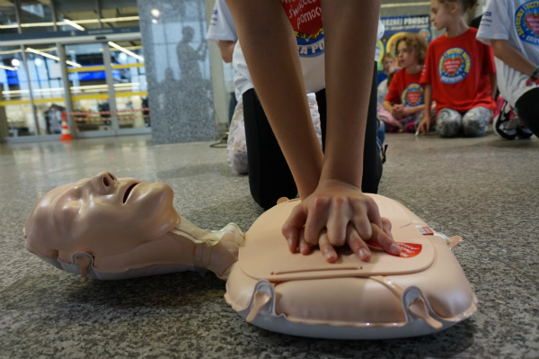 CPR classes are conducted in 90% of schools fot. Lucyna Lewandowska