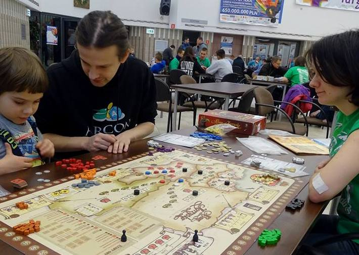 Board game tournament in one of the Collection Centres