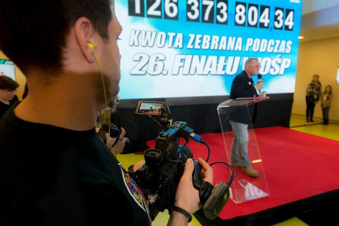 Ogłoszenie wyniku 26. Finału WOŚP - fot. Łukasz Widziszowski