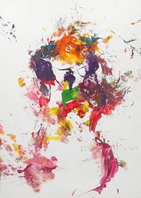 Obraz namalowany przez konia (kliknij na zdjęcie, żeby przejść do aukcji)