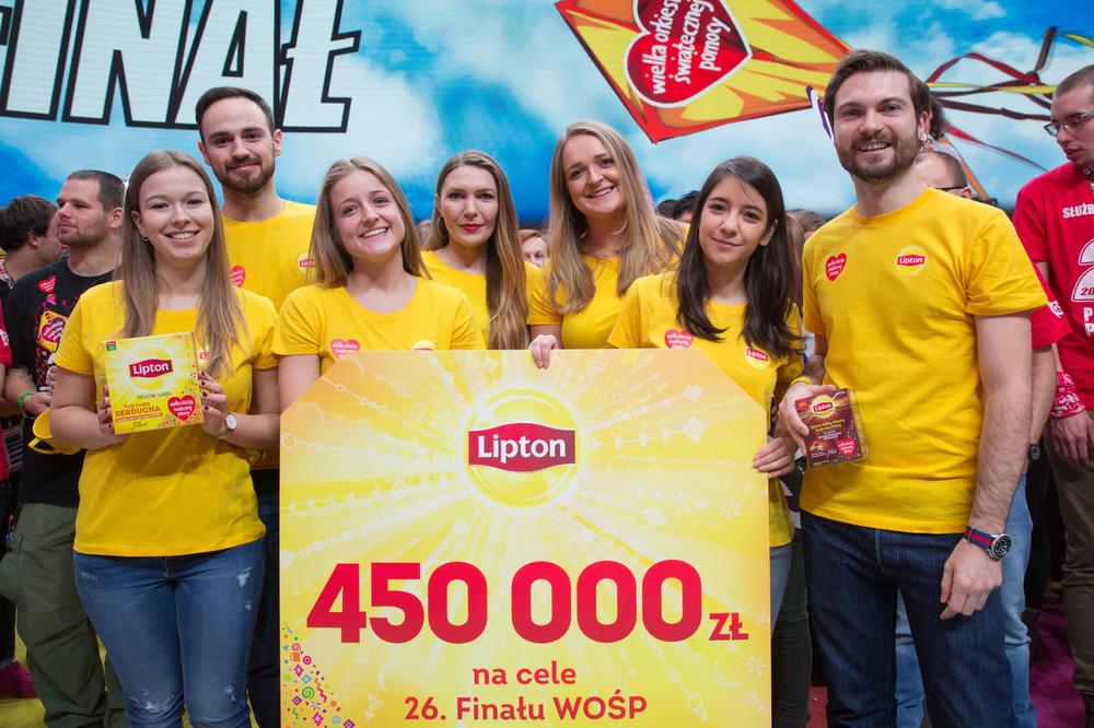 Lipton w czasie 26. Finału WOŚP, fot. Lucyna Lewandowska