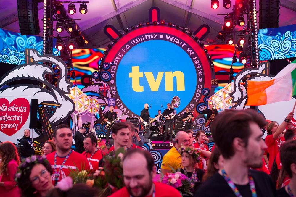 TVN podczas 28. Finału WOŚP, fot. Basia Lutzner